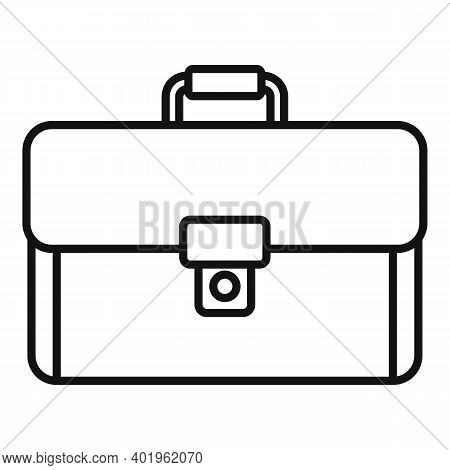 Leather Suitcase Icon. Outline Leather Suitcase Vector Icon For Web Design Isolated On White Backgro