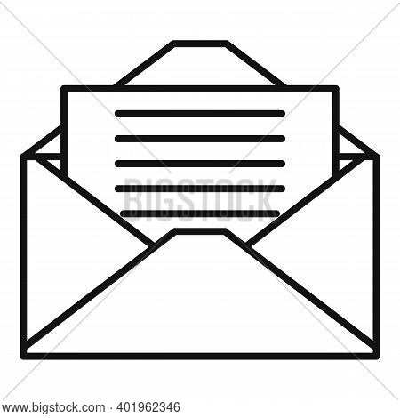 Pr Mail Letter Icon. Outline Pr Mail Letter Vector Icon For Web Design Isolated On White Background