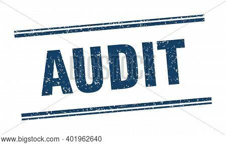 Audit Stamp. Audit Label. Square Grunge Sign