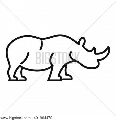 Rhino Africa Icon. Outline Rhino Africa Vector Icon For Web Design Isolated On White Background