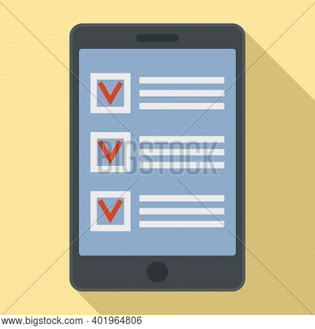 Sociology To Do List Icon. Flat Illustration Of Sociology To Do List Vector Icon For Web Design