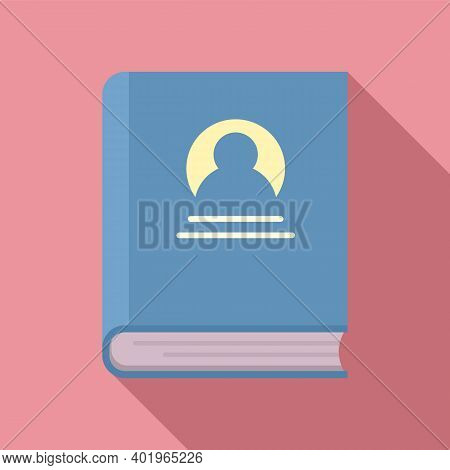 Sociology Old Book Icon. Flat Illustration Of Sociology Old Book Vector Icon For Web Design