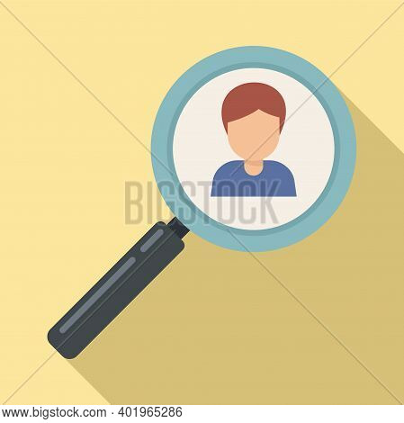 Sociology Person Search Icon. Flat Illustration Of Sociology Person Search Vector Icon For Web Desig