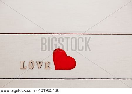 Banner.the Word Love. Love On Wooden Cubes. Love Theme. Valentines Day. Wood Letter Blocks With Word