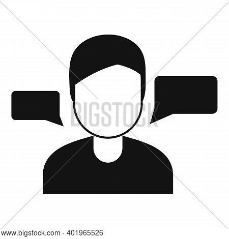 Sociology Conversation Icon. Simple Illustration Of Sociology Conversation Vector Icon For Web Desig