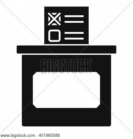 Sociology Ballot Box Icon. Simple Illustration Of Sociology Ballot Box Vector Icon For Web Design Is