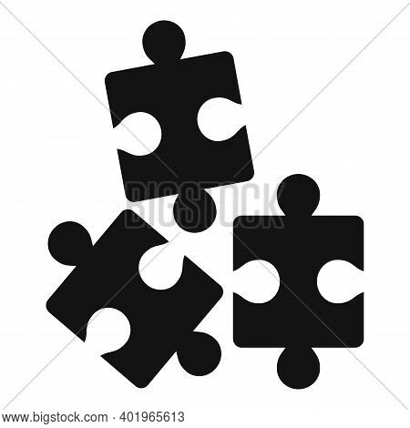 Sociology Puzzles Icon. Simple Illustration Of Sociology Puzzles Vector Icon For Web Design Isolated