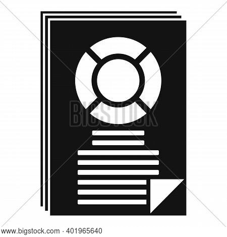 Sociology Data Paper Icon. Simple Illustration Of Sociology Data Paper Vector Icon For Web Design Is