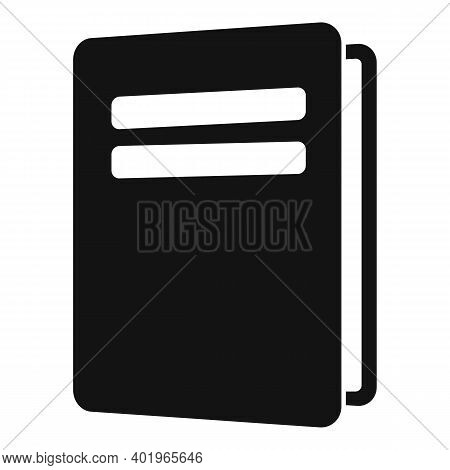 Sociology School Book Icon. Simple Illustration Of Sociology School Book Vector Icon For Web Design