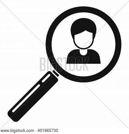 Sociology Person Search Icon. Simple Illustration Of Sociology Person Search Vector Icon For Web Des