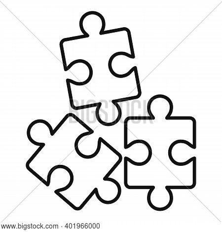 Sociology Puzzles Icon. Outline Sociology Puzzles Vector Icon For Web Design Isolated On White Backg