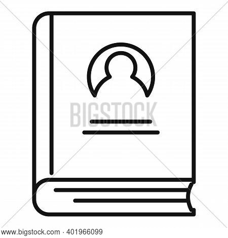 Sociology Old Book Icon. Outline Sociology Old Book Vector Icon For Web Design Isolated On White Bac