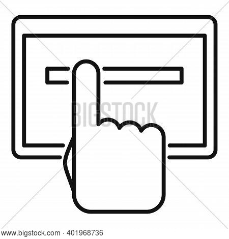 Cursor Paste Links Icon. Outline Cursor Paste Links Vector Icon For Web Design Isolated On White Bac