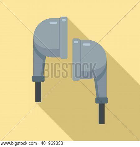 Earphones Icon. Flat Illustration Of Earphones Vector Icon For Web Design