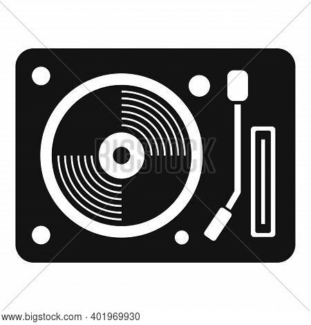 Vinyl Disc Player Icon. Simple Illustration Of Vinyl Disc Player Vector Icon For Web Design Isolated