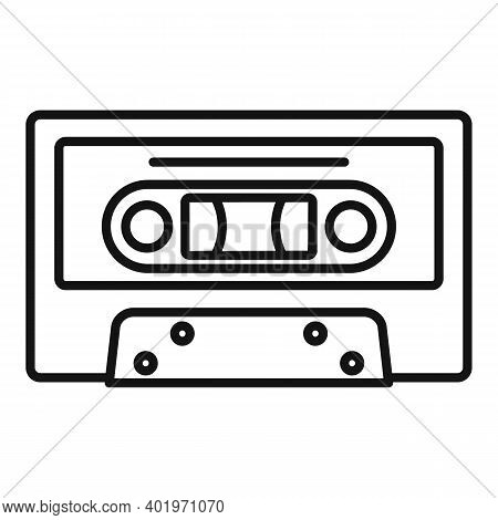 Music Cassette Icon. Outline Music Cassette Vector Icon For Web Design Isolated On White Background