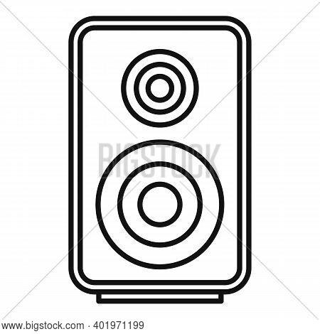 Acoustic Speaker Icon. Outline Acoustic Speaker Vector Icon For Web Design Isolated On White Backgro
