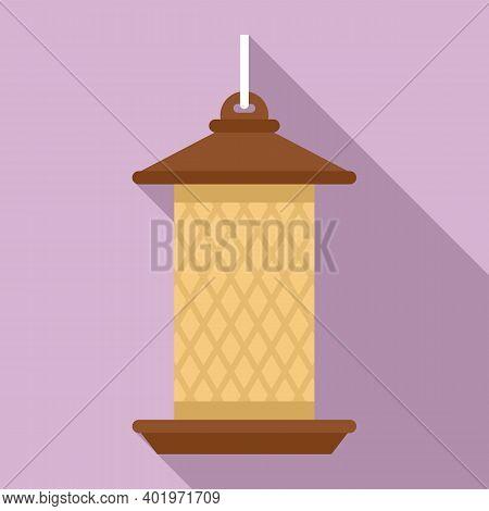 Cylinder Bird Feeders Icon. Flat Illustration Of Cylinder Bird Feeders Vector Icon For Web Design