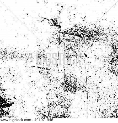 Distressed Grainy Overlay Texture. Grunge Dark Corner Messy Background. Dirty Paper Empty Cover Temp
