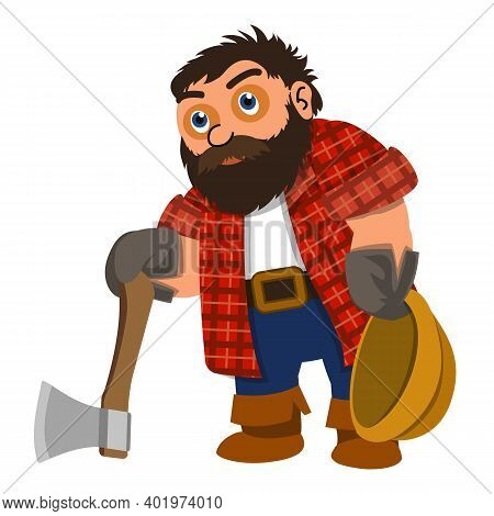Lumberjack Tired Icon. Cartoon Of Lumberjack Tired Vector Icon For Web Design Isolated On White Back