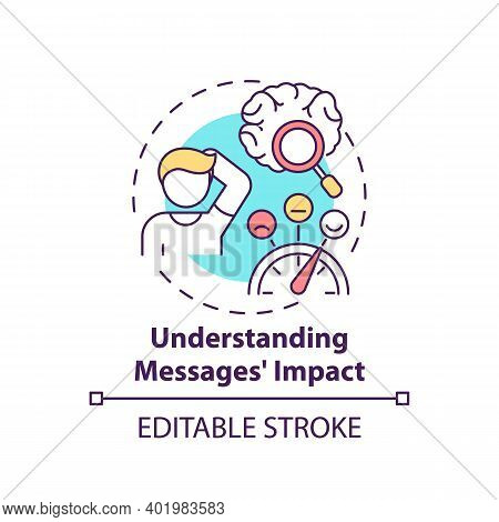 Understanding Messages Impact Concept Icon. Media Literacy Elements Idea Thin Line Illustration. Fre