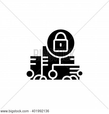 Total Lockdown Glyph Icon. New Normal Concept. Quarantine In City. Staying Home, Social Isolation. N