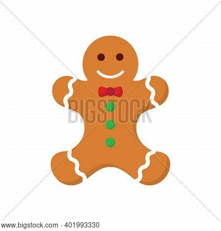 Ginger Bread Cookie Icon For Christmas And Hew Year Holidays