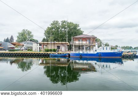 Puck, Poland - September 20, 2020: Fishing Port In Puck.