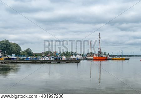 Puck, Poland - September 20, 2020: Boats At Fishing Port In Puck.