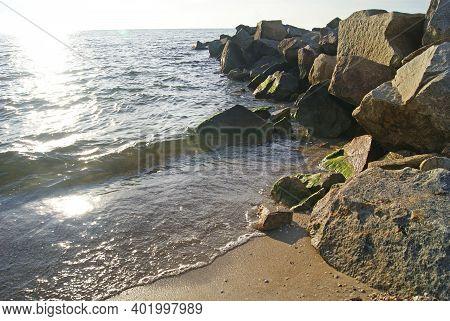 The Shore Of The Sea Of Azov. Ukraine