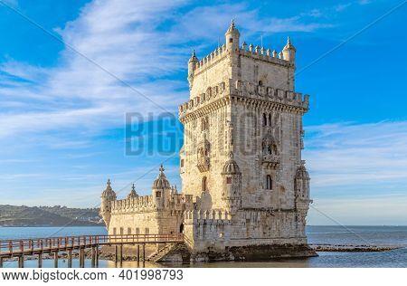 Tower Of Belem (torre De Belem), Lisbon, Portugal.