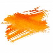 orange watercolors a spot watercolor blotch isolated poster