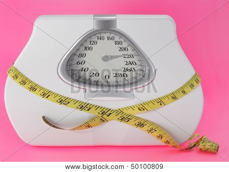 Scale Overweight Concept