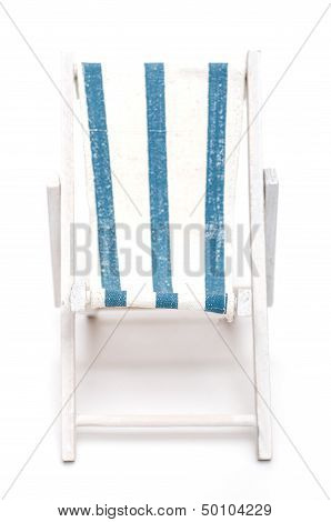 Beach Chair With Blue And White Stripes