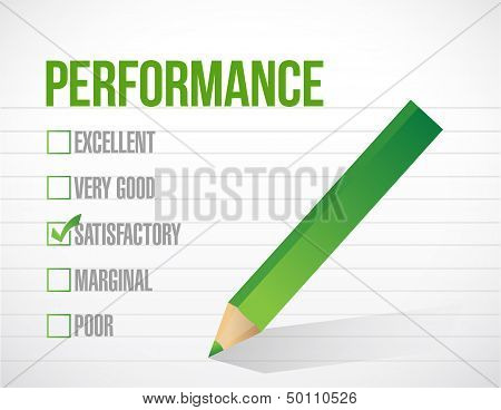 Satisfactory Performance Review Illustration