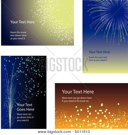 Fogos de artifício de cartões de visita