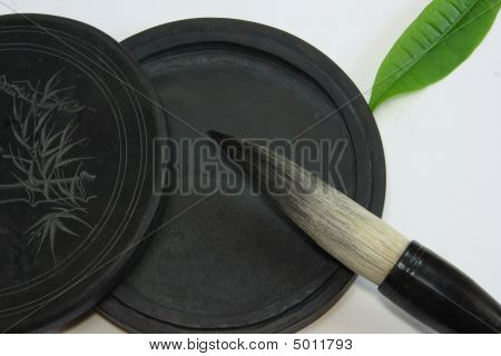 Chinese Calligraphy Tool——brush And Inkstone