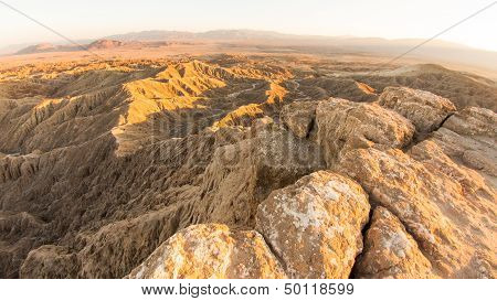 Fonts Point and view of the Borrego Badlands.