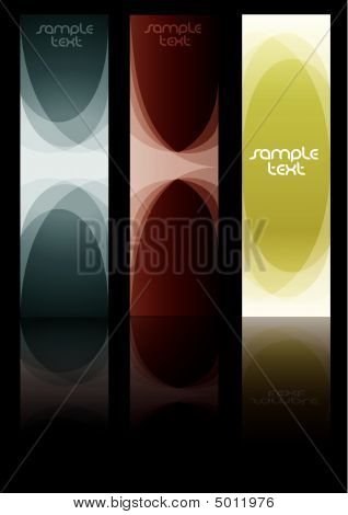 Abstract banner background in editable vector format. poster