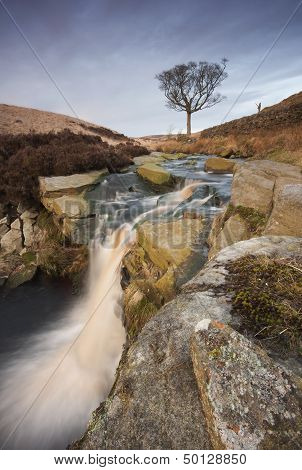 A beautiful Yorkshire waterfall situated on the remote moorland above Hebden Bridge in Calderdale.