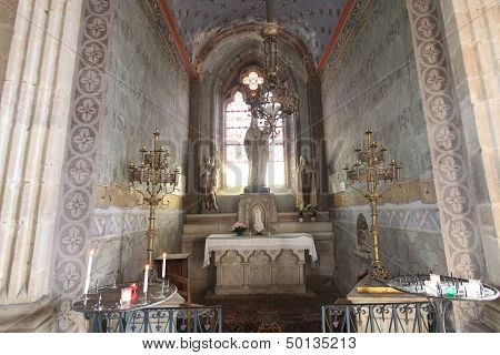 Medieval church of saint menoux, Allier, France
