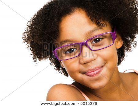 Beautiful Girl Wearing Eyeglasses