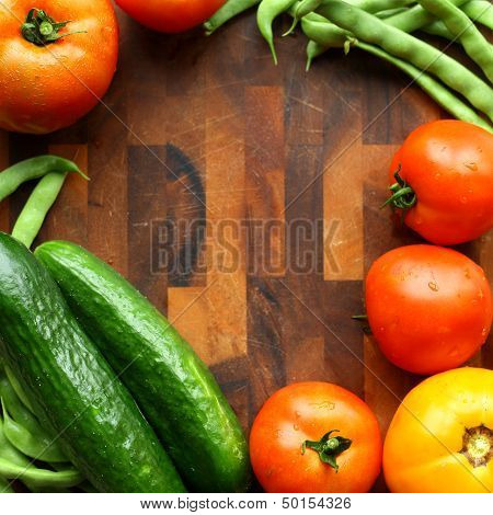 Vegetable And Cutting Board Border Square