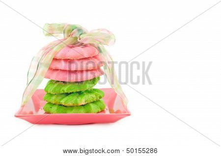 Pink And Green Cookies