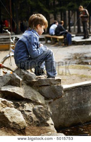 Boy In Jeans Suit