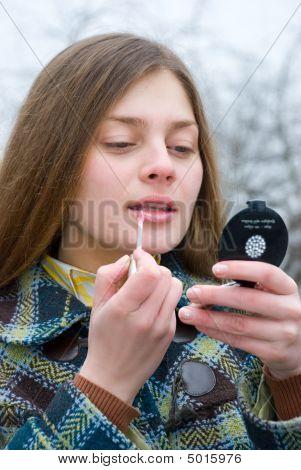 Beautiful Young Woman Make-up