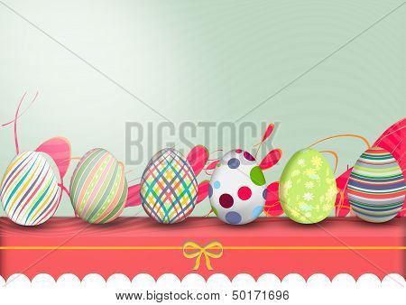 Easter, Row Of Eggs