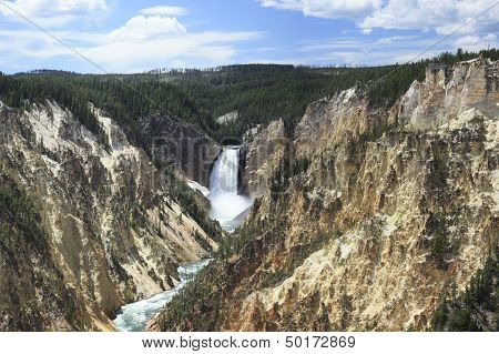 Yellowstone Lower Falls panorama 1