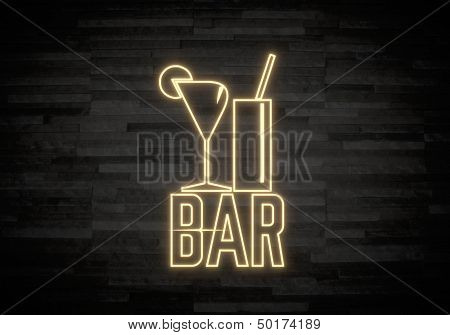 Illustration Of A Creative Bar Label On Classy Stone Wall