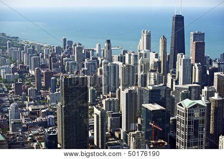 Chicago Downtown Bird Eye